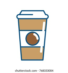 Isolated coffee cup design