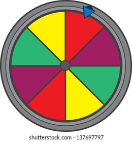Isolated colorful game show wheel