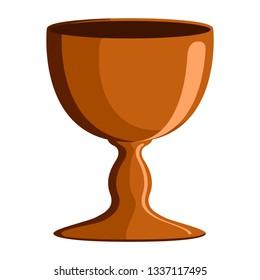Isolated communion chalice image. Vector illustration design