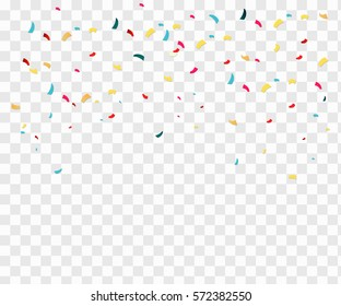 Isolated confetti on a transparent background. Vector, eps10