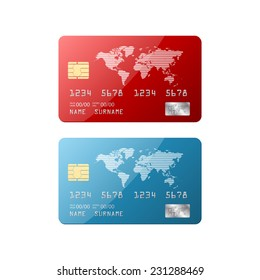 Isolated credit card.vector