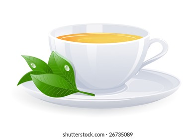 Isolated cup of tea. Vector-Illustration