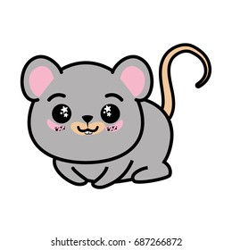 isolated cute mouse