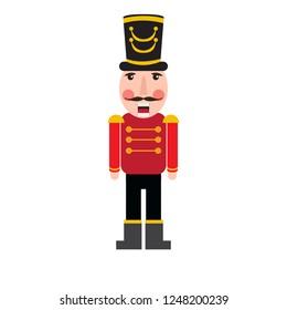 Isolated cute nutcracker soldier. Vector illustration design