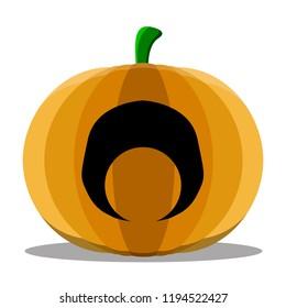 Isolated cyclops halloween pumpkin. Vector illustration design