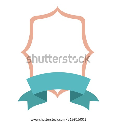 Isolated Decoration Frame Ribbon Design Stock Vector Royalty Free