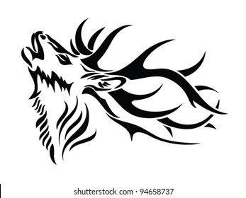 Elk Silhouette Images Stock Photos Vectors Shutterstock