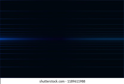 Isolated,  Digital Lines Horizon Background Wallpaper Design Vector Graphic, Blue on Black, Iterations, Expanding, Modern, Tech, Digitize, Permutation, Abstract Geometric, Infinity, Virtual Space, VR