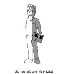 Isolated doctor cartoon design