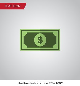Isolated Dollar Flat Icon. Greenback Vector Element Can Be Used For Greenback, Money, Dollar Design Concept.