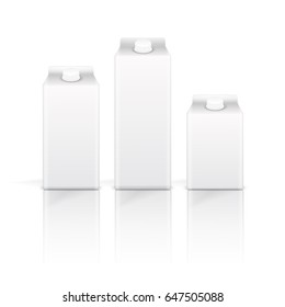 Isolated drink box on white background.  Vector illustration.