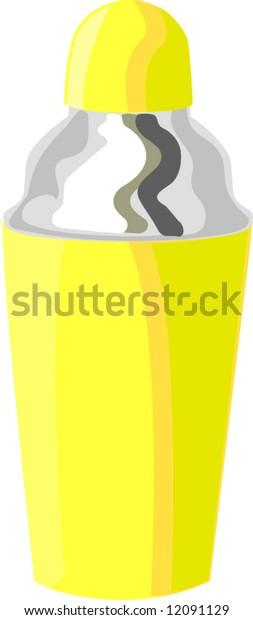 Isolated drink shaker, vecor illustration