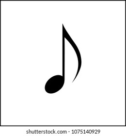 isolated eighth note. vector eighth notes elements music on white background