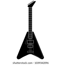 Isolated electric guitar icon. Musical instrument