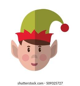 Isolated elf of Christmas season design