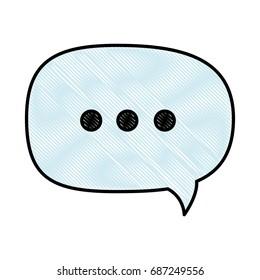 isolated ellipsis speech bubble