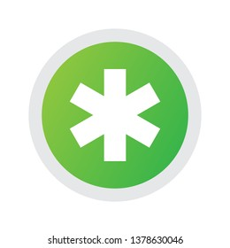 Isolated emergency icon symbol on clean background. Vector aesculapius element in trendy style.