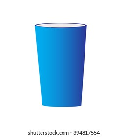 isolated empty blue cup vector illustration