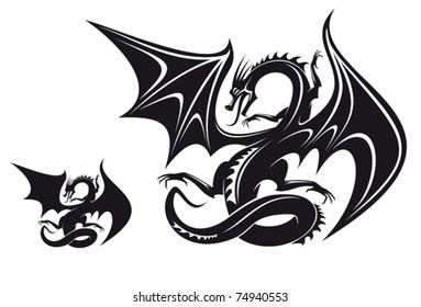 Vectores, imágenes y arte vectorial de stock sobre Dragon Skull