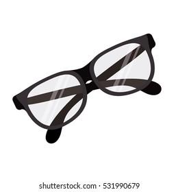 Isolated fashion glasses design