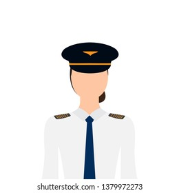 Isolated female pilot image. Vector illustration design