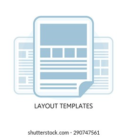 Isolated Flat Design Layout Templates Icon