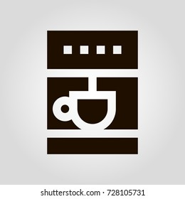 Isolated flat vector icon of automatic coffee making machine