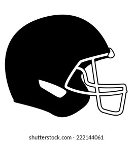an isolated football helm on a white background