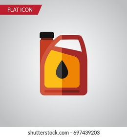 Isolated Fuel Canister Flat Icon. Jerrycan Vector Element Can Be Used For Oil, Jerrycan, Fuel Design Concept.
