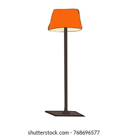 isolated, furniture, lamp