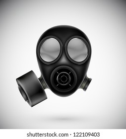 Isolated gas mask. Eps 10
