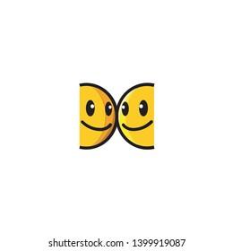 Isolated Gemini Emoji. Emoticon, Vector Icon, Pictogram