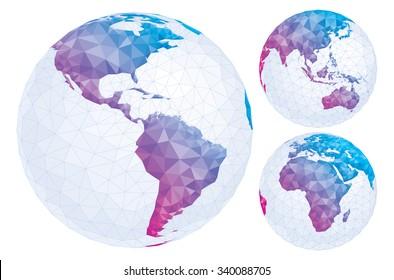 Isolated geometric globe.