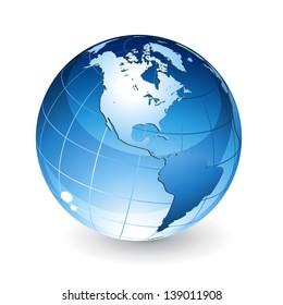 Isolated globe