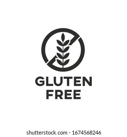 Isolated gluten free icon sign vector design.