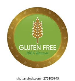 Isolated gluten free label with text. Vector illustration