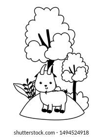 Isolated goat cartoon vector design