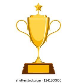 Isolated golden trophy image. Vector illustration design