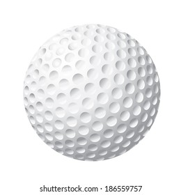 Isolated golf ball vector illustration