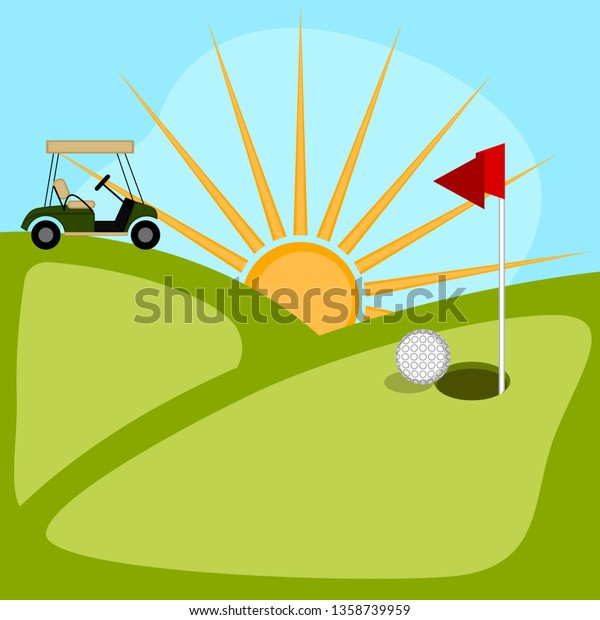 Isolated Golf Course Background Vector Illustration Stock Vector Royalty Free 1358739959