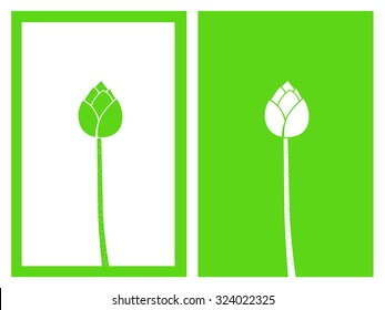 isolated green lotus buds,vector illustration