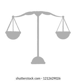 Isolated grey balance icon. Vector illustration design