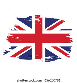 Isolated grunge textured flag of the United Kingdom, Vector illustration