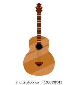 Isolated guitar image. Musical instrument. Vector illustration design