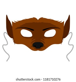 Isolated halloween werewolf mask. Vector illustration design