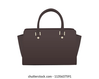 Isolated Handbag. Summer Bag. Black Handbag Illustration.