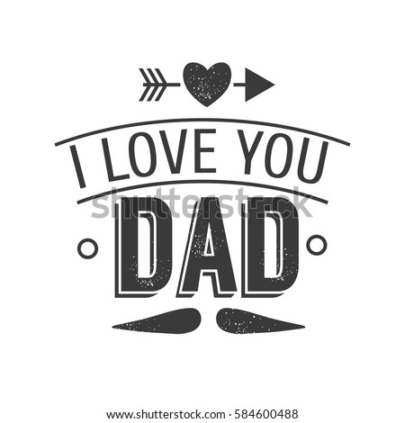 Isolated Happy Fathers Day Quotes On Stock Vector Royalty Free