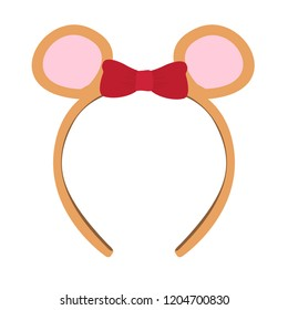 Isolated headband icon with a ribbon and mouse ears. Vector illustration design