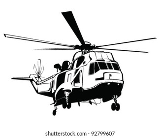 Isolated helicopter vector illustration