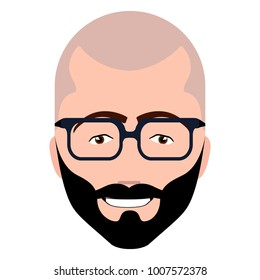 Isolated hipster avatar image vector illustration design